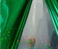 Плёнка голография, зелёная, 200 гр, 70 см*7,5 м