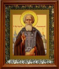 Сергий Радонежский (19х22), светлый киот