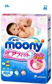 Подгузники Moony М (6-11кг), 64 шт/уп ( Disney )