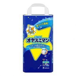Трусики MOONY L (9-14 кг), 30 шт/уп для мальчиков, Ночные - Оригинал
