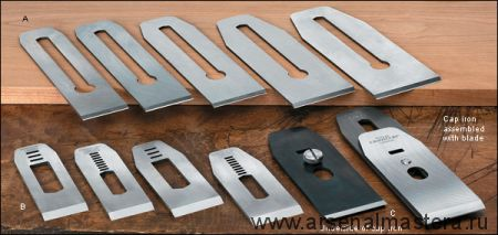 Нож для торцовочных рубанков Stanley N9-1/2, материал - PM-V11, 41мм (1-5/8), slot 5/8 дюйм Veritas М00007068