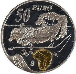 50 евро 2004, Испания, Сальвадор Дали