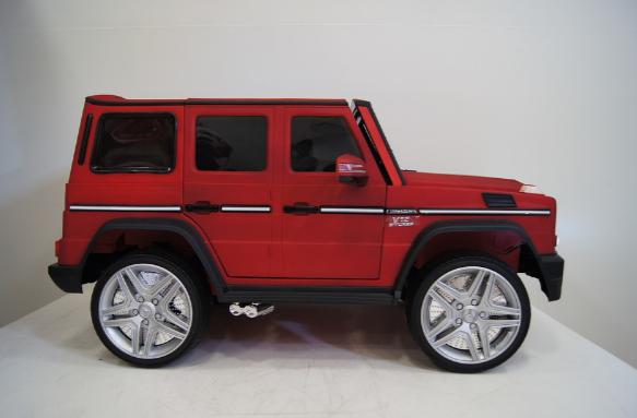 Детский электромобиль River Toys Mercedes-Benz-G-65-AM вишневый матовый