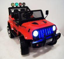 Детский электромобиль River Toys Jeep T888TT красный