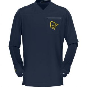 Norrona Fjora Equaliser Long Sleeve MTB Cool Black/Mellow Yellow M