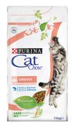 CAT CHOW Sensitive Корм для кошек с чувствительным пищеварением и чувствительной кожей (1,5 кг)