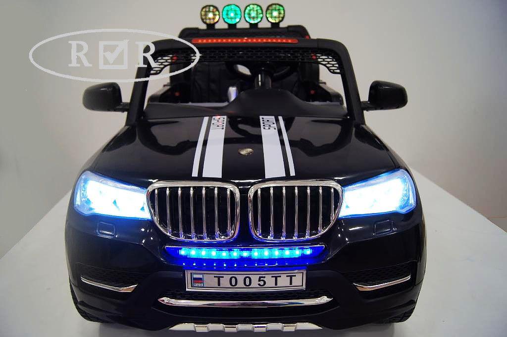 Детский электромобиль River Toys BMW T005TT 4x4 черный
