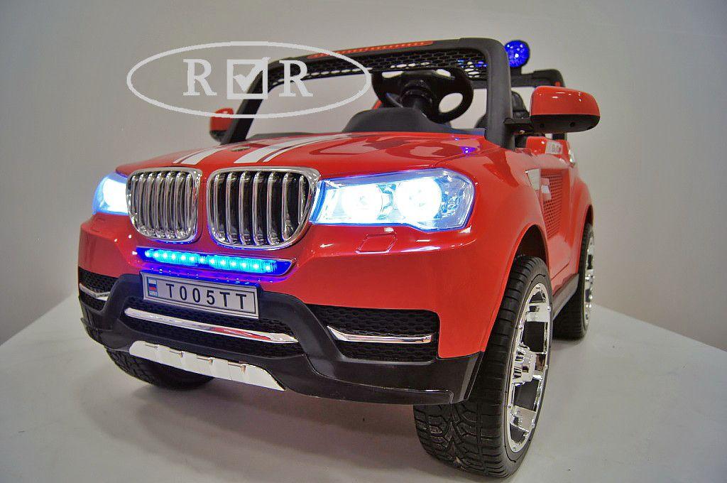 Детский электромобиль River Toys BMW T005TT красный