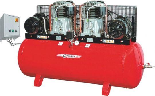 компрессор поршневой 1700 л/мин, 10 бар, 2х5.5 кВт. 380 В, ресивер 500 л., с пультом