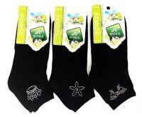 Женские носки со стразами (мин заказ 3уп)-20 руб