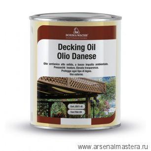 Масло датское Borma Decking Oil 1л для террас Белое 4971-IL-50
