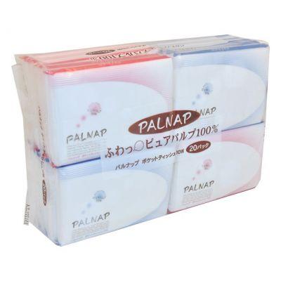 Бумажные платочки IDESHIGYO PALNAP двухслойные 20 уп по 10 шт