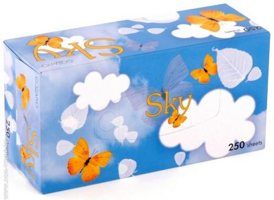 Бумажные салфетки GOTAIYO Sky с ароматом ментола 3 пачки по 250 шт
