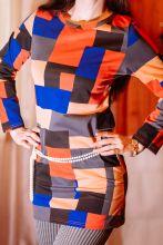 """Платье с геометрическим рисунком """"Пикассо"""""""