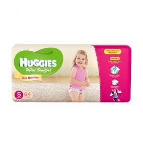 Подгузники Huggies Ultra Comfort для девочек 5 (12-22 кг) 64 шт