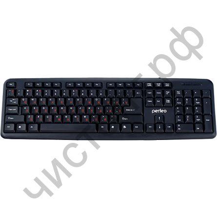 Клавиатура провод.Perfeo CLASSIC стандарт, USB, чёрная (PF-6106-USB)