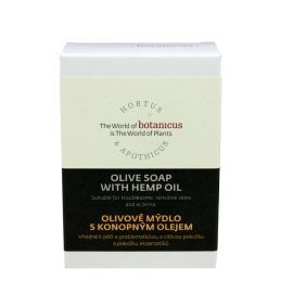 Органическое оливковое мыло с конопляным маслом 85 гр