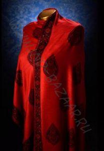 Красный индийский палантин