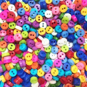 Набор цветных пуговиц для творчества, 10 шт.