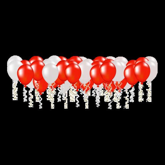 Гелиевый шар красно-белый