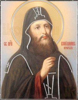 Икона Вениамин Печерский (рукописная)