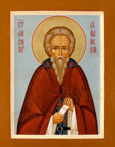 Вениамин Синайский (рукописная икона)