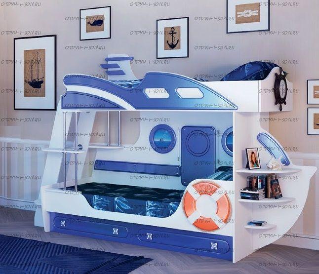 Кровать двухъярусная Яхта-2 МДФ