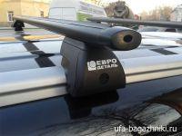Багажник на интегрированные рейлинги Евродеталь, аэродинамические дуги