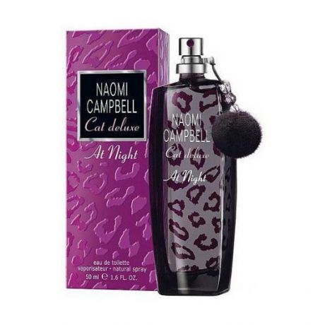 """Туалетная вода Naomi Campbell """"Cat Deluxe at Night"""", 75 ml"""