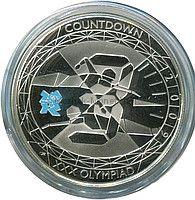 5 фунтов 2009, Великобритания, Олимпийские игры, плавание