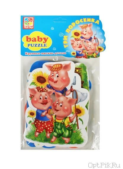 "Мягкие пазлы ""Baby puzzle Сказки"" Три поросенка"