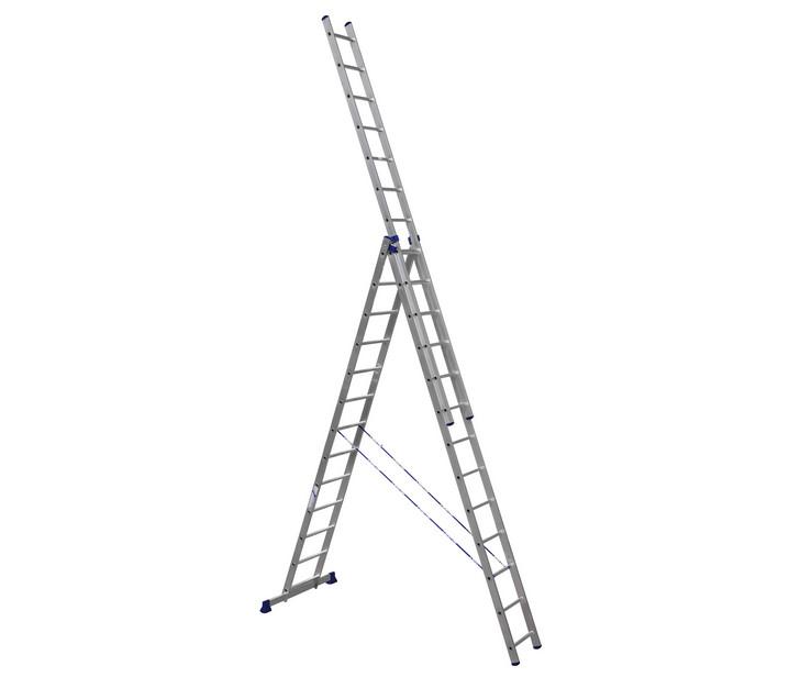 Лестница - стремянка  3-х секц. 3*13 (3,67/9,27/6,45 м 23,8 кг),алюм.