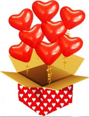Воздушные шары влюбленным