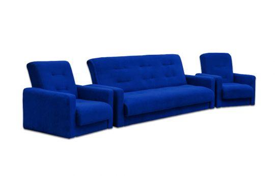 """Комплект диван и два кресла """"Милан"""" синий"""