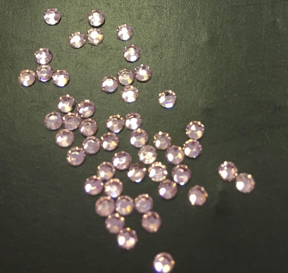 Стразы SS5 стекло плоские (бледно-розовые) уп/50шт