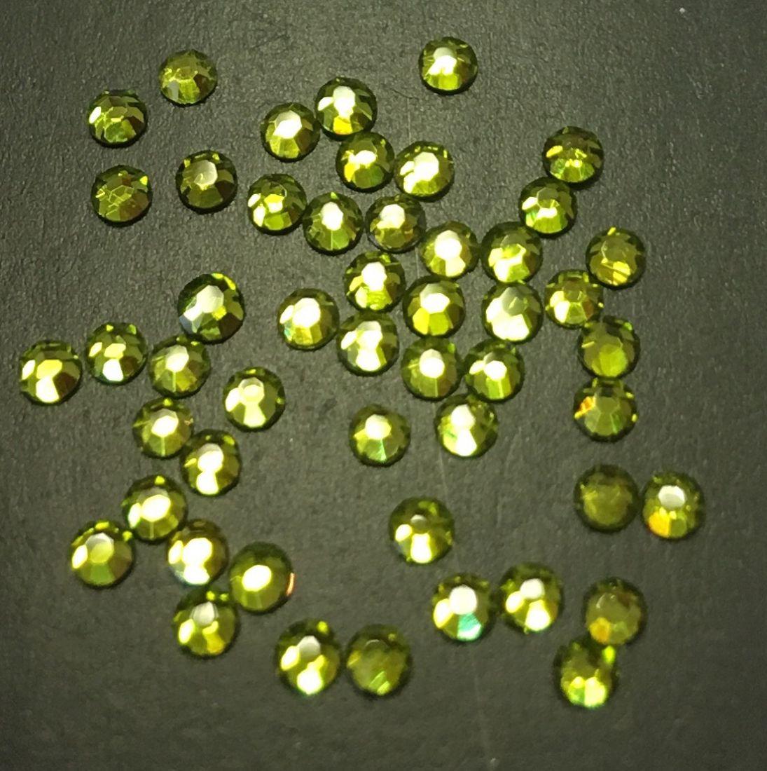 Стразы SS5 стекло плоские (оливковые) уп/50шт