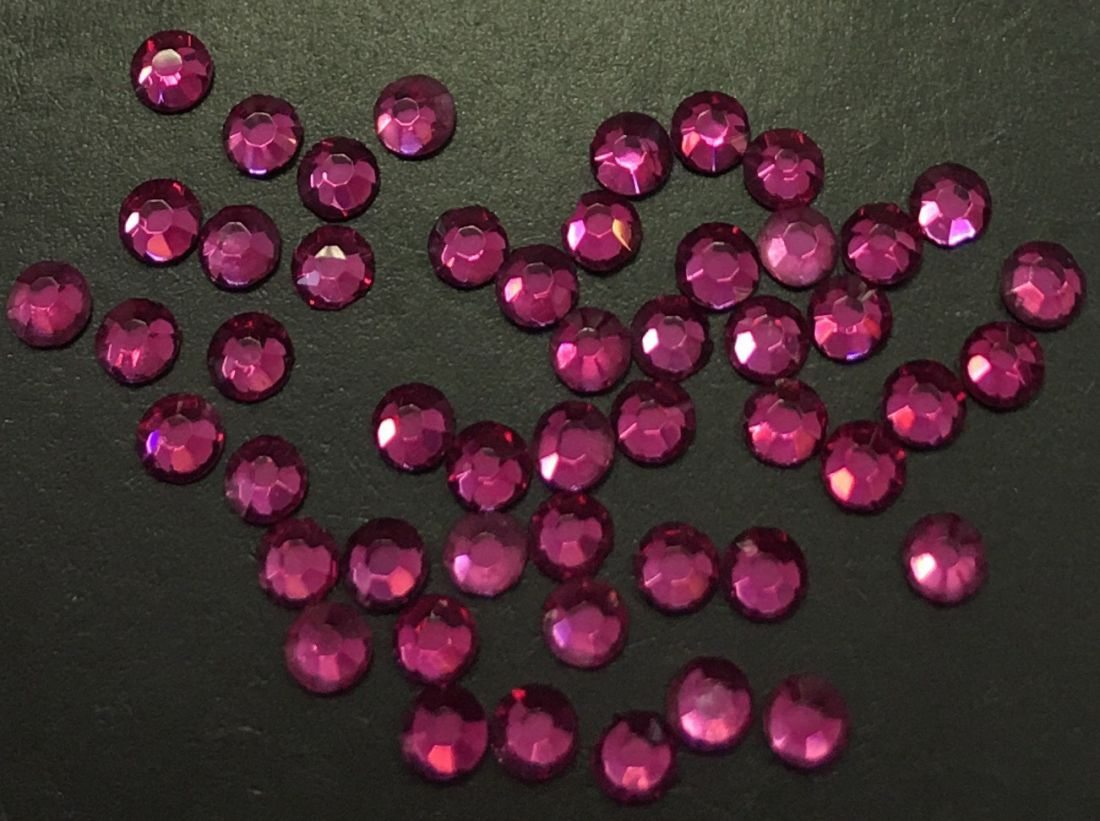 Стразы SS6/1,99 стекло плоские (Fuchsia) уп/50шт