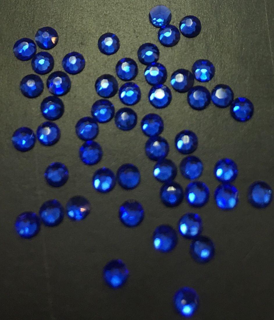 Стразы SS6/2,08мм стекло плоские (синие 04) уп/50шт