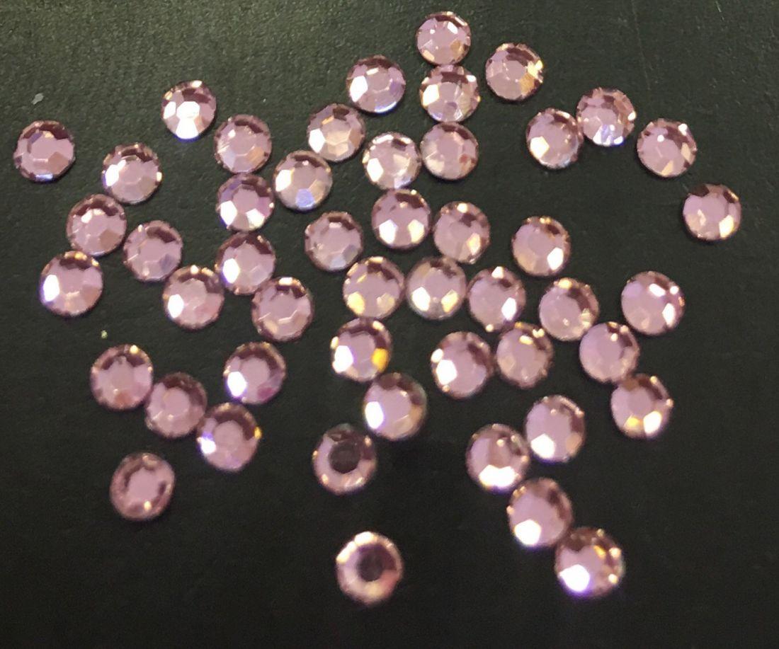 Стразы SS6/2,10 стекло плоские (светло-розовые 11) уп/50шт