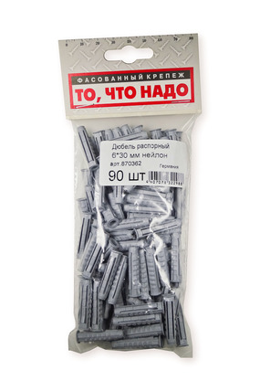 Дюбель распорный 6,0*30 н 90(шт)