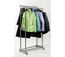 Напольная вешалка для одежды с двумя планками