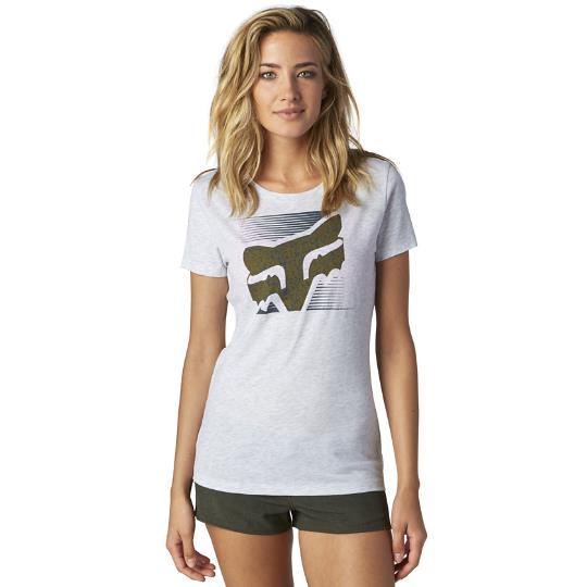 Fox - Crossed Up Crew футболка женская, серая