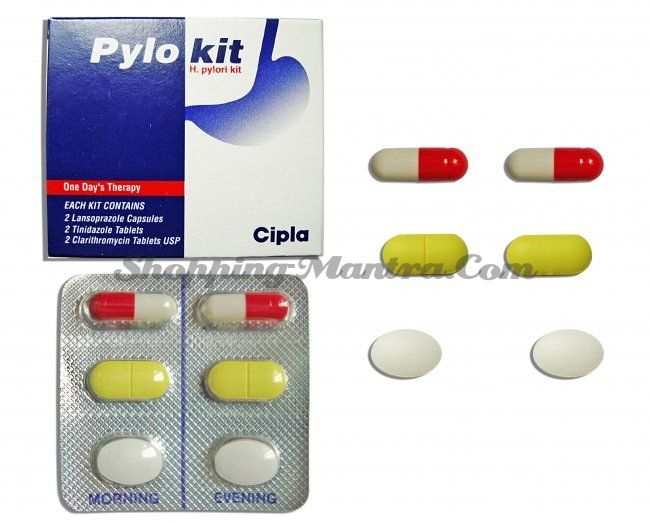 Пилокит для эрадикации хеликобактер пилори Ципла Фарма | Cipla Pharma Pylokit