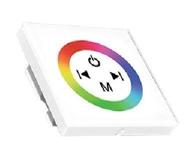 Ecola Контроллер 12V 144W(24V 288W) 12A RGB с кольцевым сенсорным белый CPW12AESB