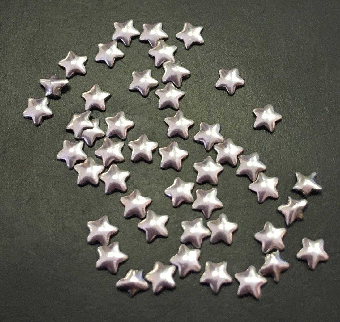 Звезда металлическая уп/50шт (серебро)