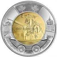 2 доллара 2016, Канада, Битва за Атлантику