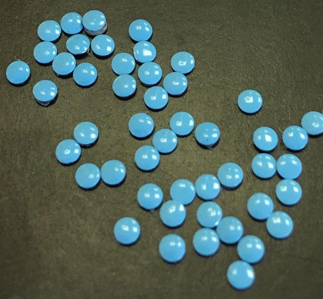 монетки металлические для дизайна 50шт. (голубые)