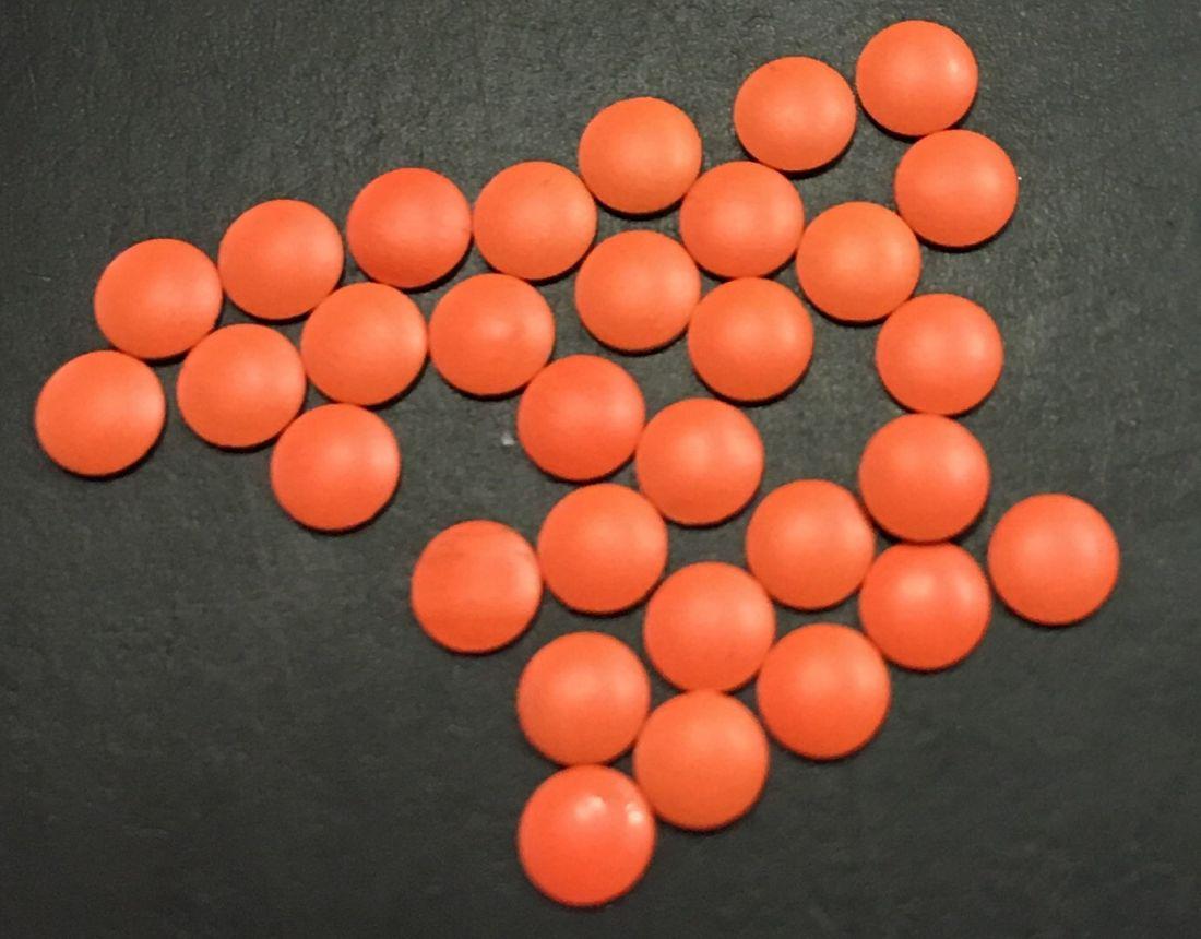 монетки металлические для дизайна d.2,9мм 30шт.(оранжевый)