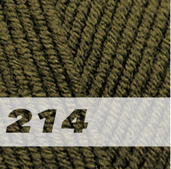 Оливковый зелёный Lanagold Alize (цвет 214)