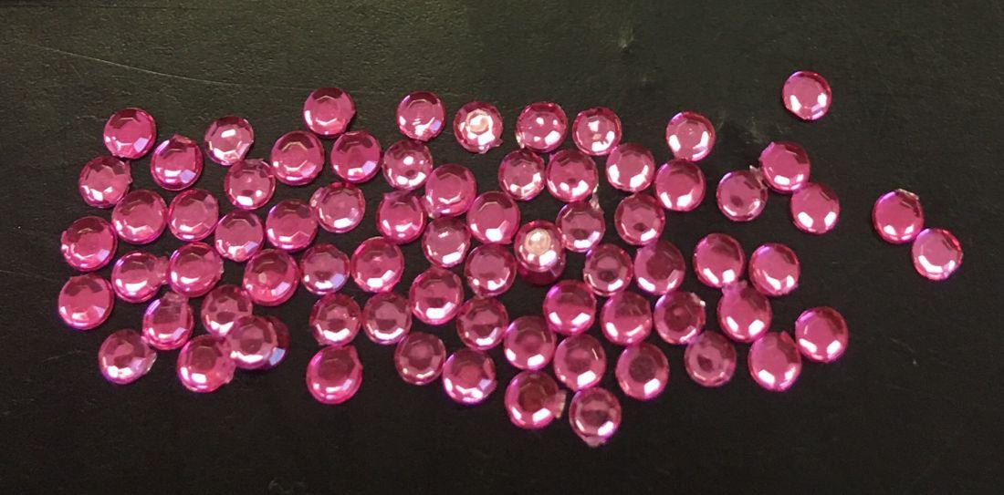 Стразы пластиковые круглые 2,5мм уп/70шт (Pink)